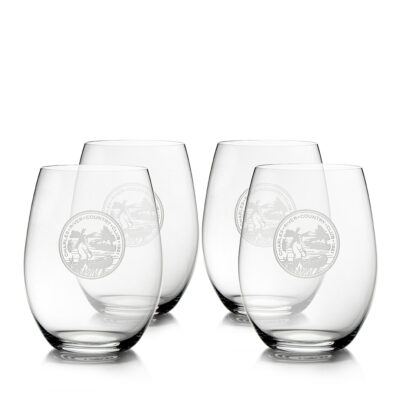 Set of 4 Riedel Stemless Glasses