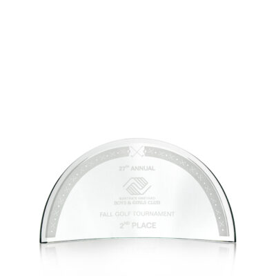 Arched Crystal Award
