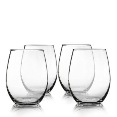 Set of 4 Stemless Glasses