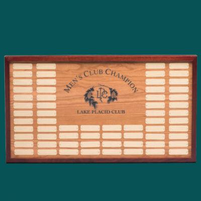Wood Plaque with Cherry Border
