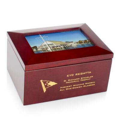 Wood Box with Frame Insert